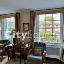 02. Secondary sash windows fitted for noise reduction. Property in a conservation area (Marylebone, London)