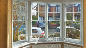 13. Secondary sash windows fitted for thermal insulation (Finchley, London)