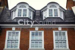 30. Secondary sash windows fitted internally in the period property; External view (London)