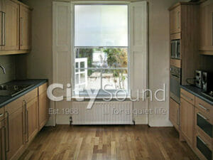 38. Secondary sash windos fitted in the kitchen for thermal insulation (London)