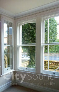 39. Box bay window fitted with secondary sash windows (London)