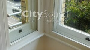 47. Box bay window fitted with secondary sash windows (London)