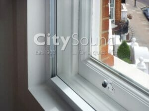 52. Secondary sash window fitted for noise reduction with cavity (London)