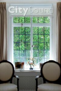 04. Horizontal siding, 2-panel window fitting for noise reduction (Kensington, London)