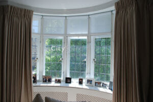 08.1. Casement (hinge) windows fitted to follow this curved bay window; Thermal insulation (St John's Wood, London)