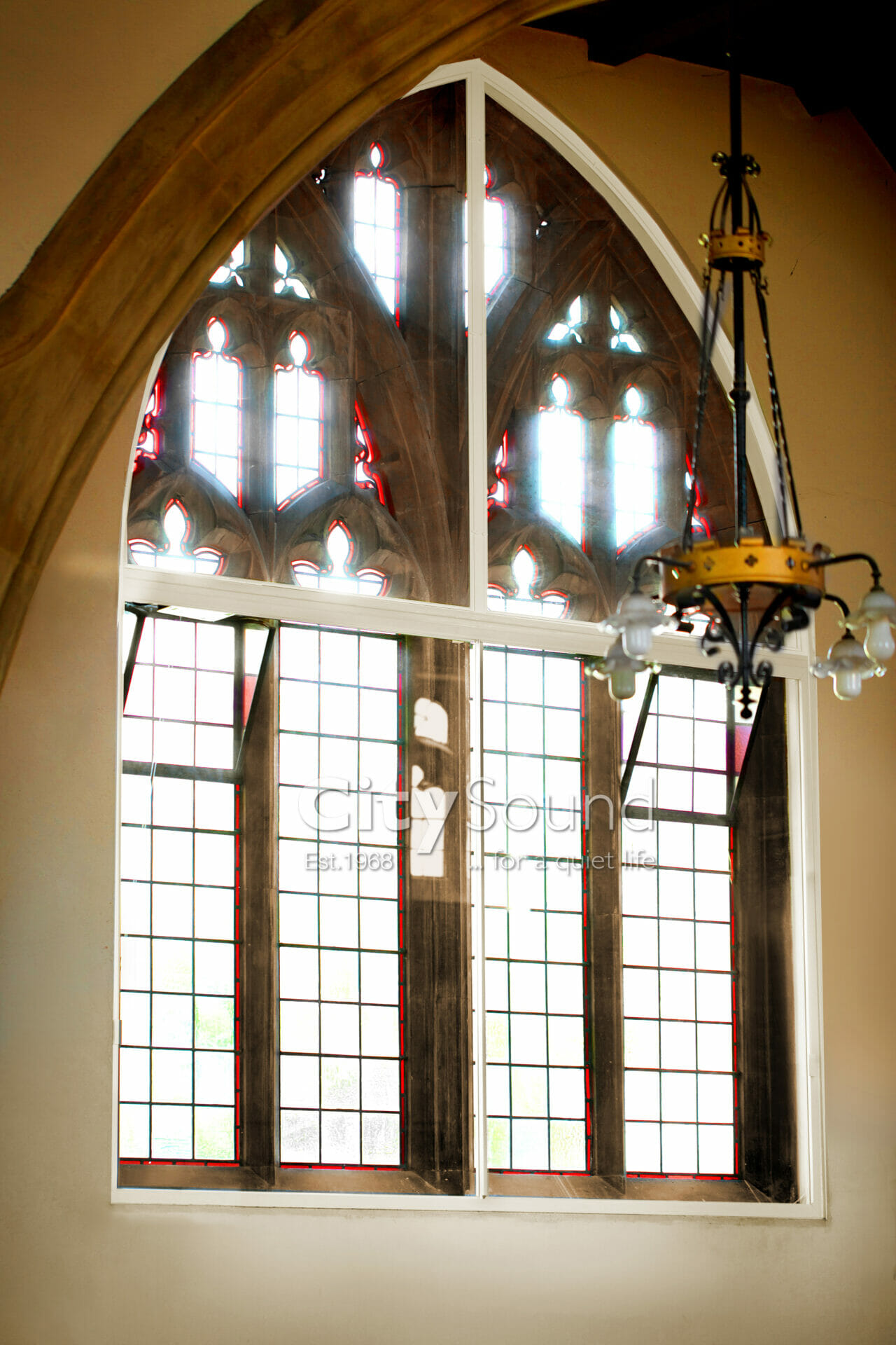 13. Sliding windows and gothic arches done in a Church. For thermal insulation (London) (2)