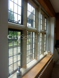 19. Sliding windows fitted to a Grade II listed house; Thermal Insulation (Kent)