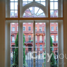 22. Sliding doors to match design of existing period doors (London)
