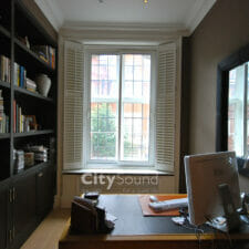05. Commercial secondary glazing (Sliding widows) fitted. Glazed with thick acoustic glass for noise reduction (Sloane Square, London)